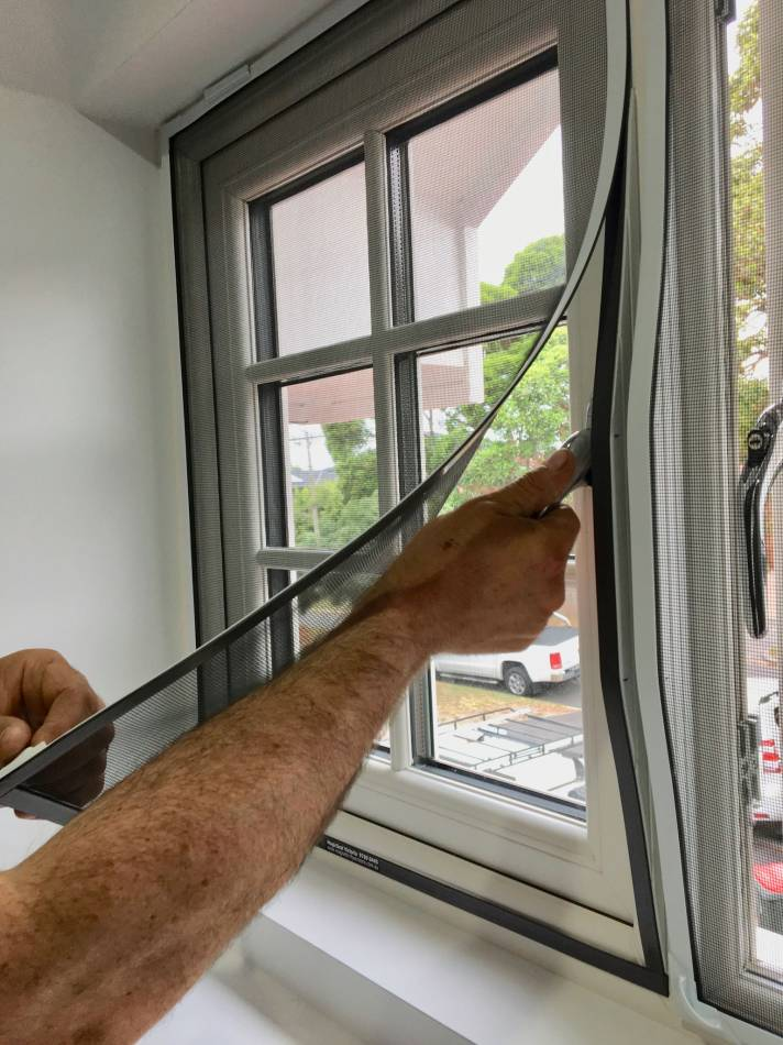 how to remove fly screen from window